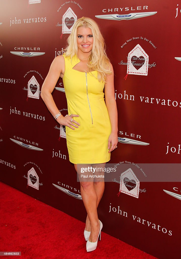 Singer / TV Personality Jessica Simpson attends the 11th annual Stuart House Benefit at John Varvatos on April 13 2014 in Los Angeles California