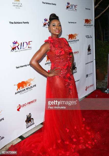 Singer / TV Personality Trenyce Cobbins attends the Ride Foundation's Inaugural Gala dance for Africa at Boulevard3 on July 23 2017 in Hollywood...