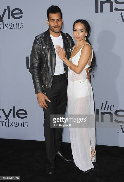 Singer Twin Shadow and actress Zoe Kravitz arrive at the InStyle Awards at Getty Center on October 26 2015 in Los Angeles California