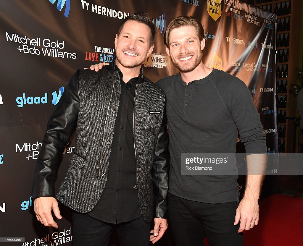 Singer Ty Herndon and actor Chris Carmack attend The Concert For Love And Acceptance at City Winery Nashville on June 12, 2015 in Nashville, Tennessee.