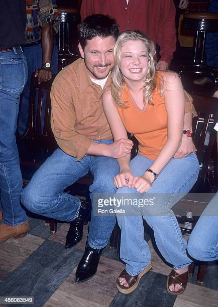 Singer Ty Herndon and singer LeAnn Rimes attend the 33rd Annual Academy of Country Music Awards Artists Reception on April 21 1998 at the Country...