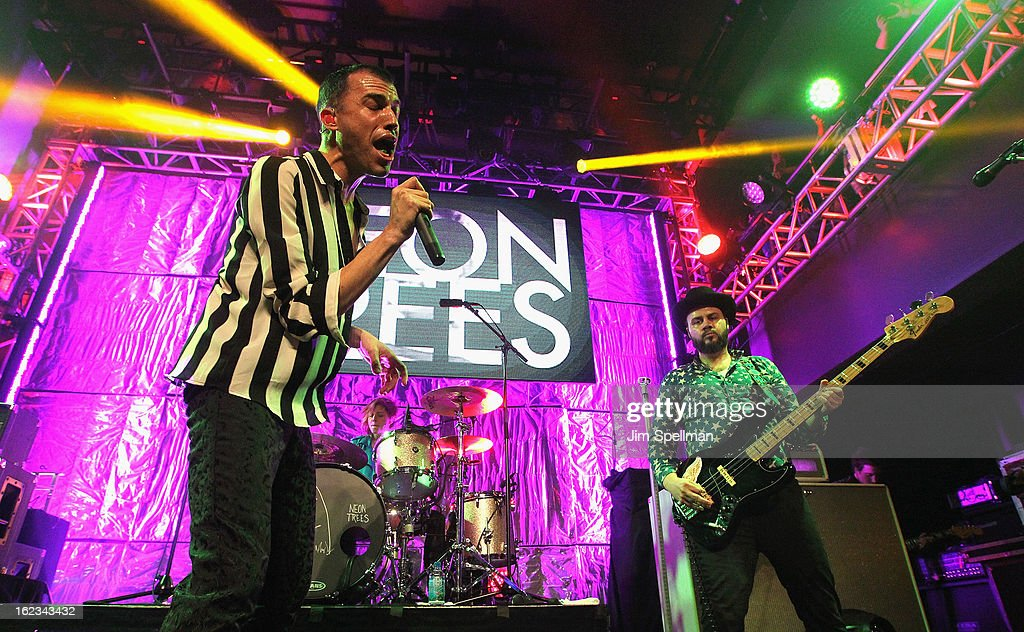 Singer Tyler Glenn and musician Branden Campbell attend The New Billboard Launch Event at Stage 48 on February 21, 2013 in New York City.