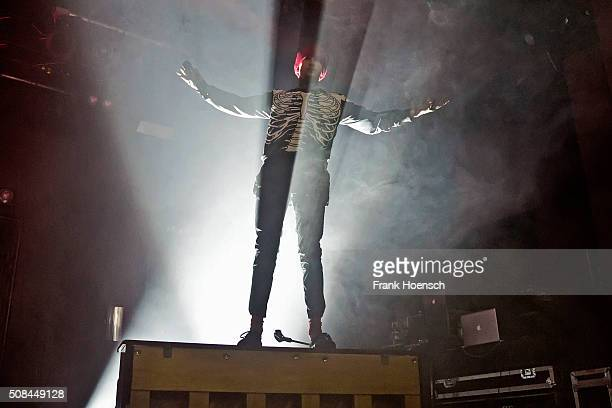 Singer Tyler Joseph of the American band Twenty One Pilots performs live during a concert at the Astra on February 4 2016 in Berlin Germany