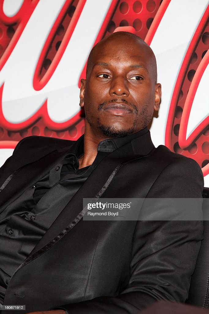 Singer Tyrese, discusses his book, 'MANOLOGY: Secrets of Your Man's Mind Revealed' in the WGCI-FM 'Coca-Cola Lounge' in Chicago, Illinois on JANAURY