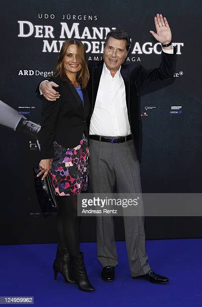 Singer Udo Juergens and his daughter Jenny Juergens attend the 'Der Mann mit dem Fagott' premiere at CineStar on September 14 2011 in Berlin Germany