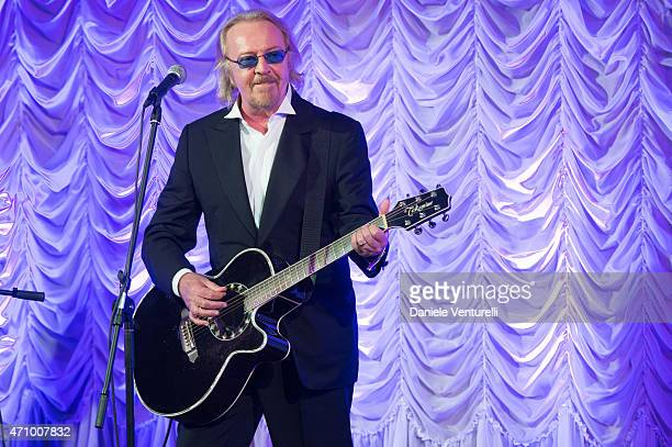 Singer Umberto Tozzi performs on stage during the Prince Albert II Of Monaco Foundation Gala Dinner on April 24 2015 in Venice Italy