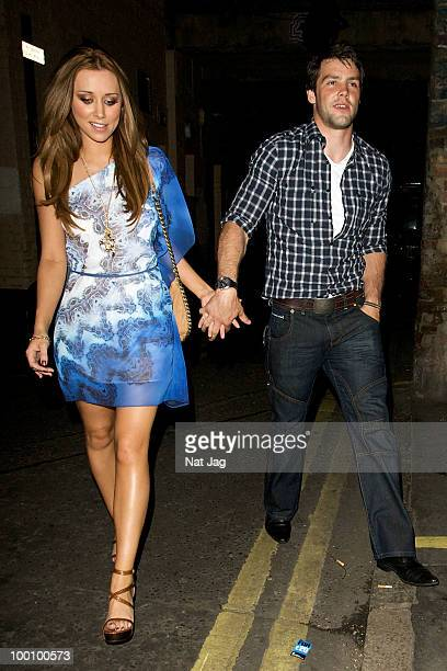 Singer Una Healy of The Saturdays and rugby player Ben Foden attend Michael Evans' 25th Birthday Party at The House Of St Barnabus in London on May...