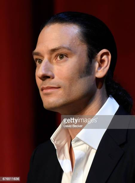 Singer Urs Buhler of Il Divo attends a news conference announcing the group's September sixshow headlining engagement 'Il Divo This is Your Night...