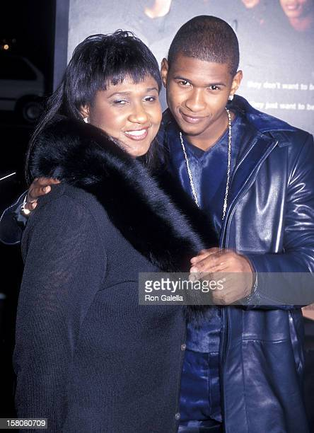 Singer Usher and mother Jonetta Patton attend the 'Light It Up' Hollywood Premiere on November 4 1999 at the Pacific's Cinerama Dome in Hollywood...