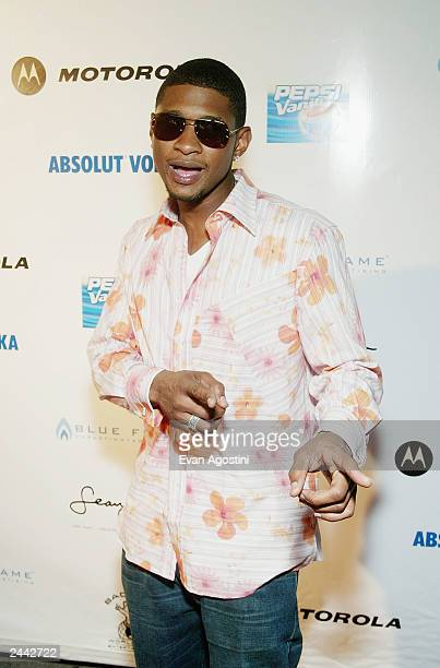 Singer Usher arrives at P Diddy's MTV Video Music Awards afterparty at Show August 28 2003 at Radio City Music Hall in New York City