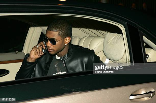 Singer Usher arrives to the VH1 Big in 04 at the Shrine Auditorium on December 1 2004 in Los Angeles California