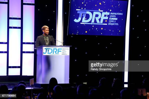 Singer Usher attends JDRF LA's IMAGINE Gala to benefit type 1 diabetes research at The Beverly Hilton on April 22 2017 in Beverly Hills California