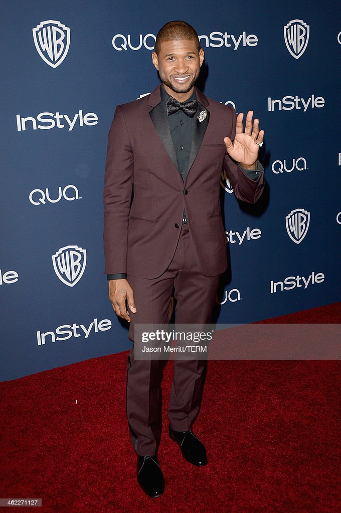 Singer Usher attends the 2014 InStyle and Warner Bros 71st Annual Golden Globe Awards PostParty on January 12 2014 in Beverly Hills California