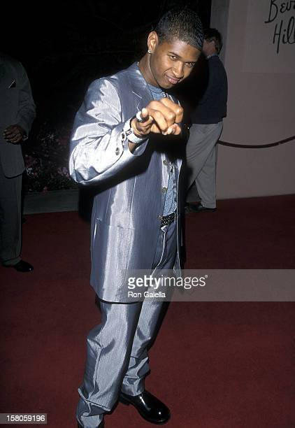 Singer Usher attends the 41st Annual Grammy Awards PreParty Hosted by Clive Davis on February 23 1999 at the Beverly Hills Hotel in Beverly Hills...