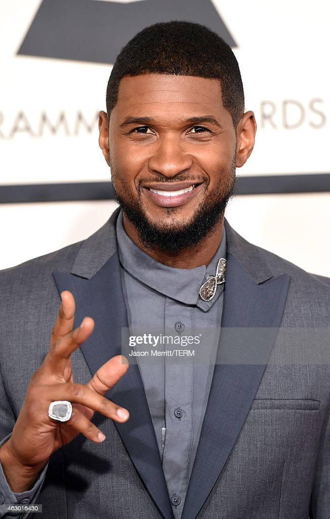 Singer Usher attends The 57th Annual GRAMMY Awards at the STAPLES Center on February 8 2015 in Los Angeles California