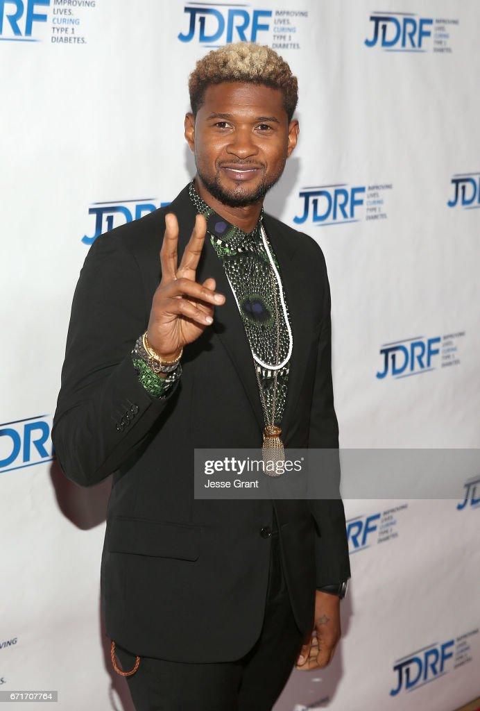 Singer Usher attends the JDRF LA Chapter's Imagine Gala held at The Beverly Hilton Hotel on April 22, 2017 in Beverly Hills, California.