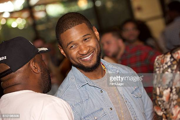 Singer Usher attends the LA Reid 'Sing To Me' PreGrammy Brunch at Hinoki The Bird on February 13 2016 in Los Angeles California