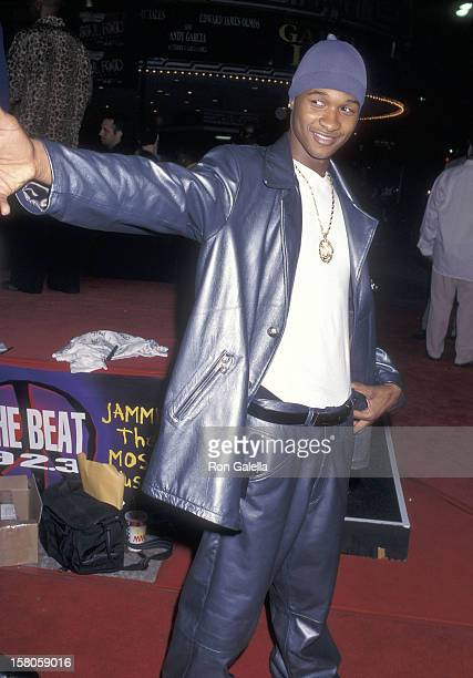 Singer Usher attends the 'Soul Food' Westwood Premiere on September 18 1997 at the Mann Village Theatre in Westwood California