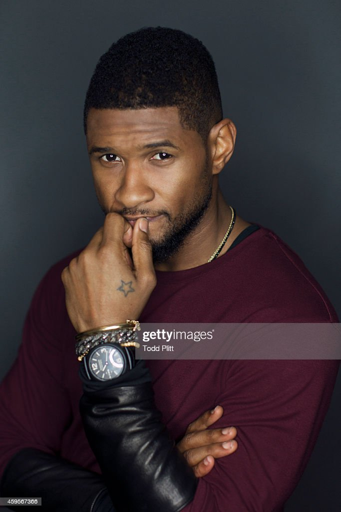 Singer <a gi-track='captionPersonalityLinkClicked' href=/galleries/search?phrase=Usher+-+Singer&family=editorial&specificpeople=201477 ng-click='$event.stopPropagation()'>Usher</a> is photographed for USA Today on November 7, 2014 in New York City. PUBLISHED