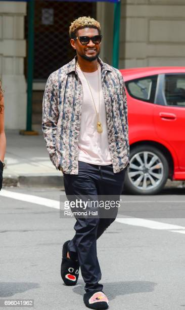Singer Usher is seen walking in Soho on June 14 2017 in New York City