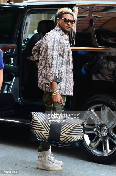 Singer Usher is seen walking in Soho on June 15 2017 in New York City