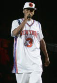 Singer Usher performs at a concert during 'The Truth Tour 2004' on October 13 2004 at Madison Square Garden in New York City