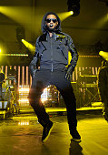 Singer Usher performs at the Super Bowl Party hosted by DIRECTV and Mark Cuban's HDNet at Victory Park on February 5 2011 in Dallas Texas