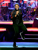 Singer Usher performs onstage at the 2016 MusiCares Person of the Year honoring Lionel Richie at the Los Angeles Convention Center on February 13...