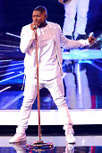 Singer Usher performs onstage during the 2014 MTV Video Music Awards at The Forum on August 24 2014 in Inglewood California