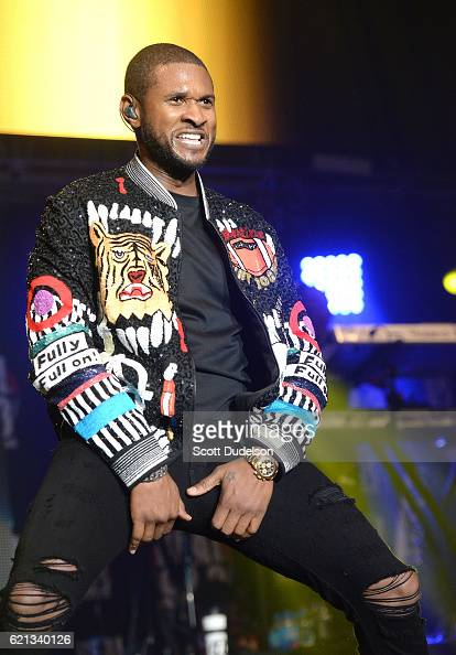Singer Usher performs onstage during the 923 Real Show at The Forum on November 5 2016 in Inglewood California