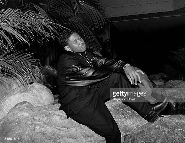 Singer Usher poses for photos at the RitzCarlton Hotel in Chicago Illinois in JANUARY 1995
