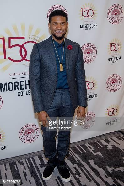Singer Usher Raymond attends the Morehouse College 29th annual student scholarship event at the Hyatt Regency Atlanta on February 18 2017 in Atlanta...