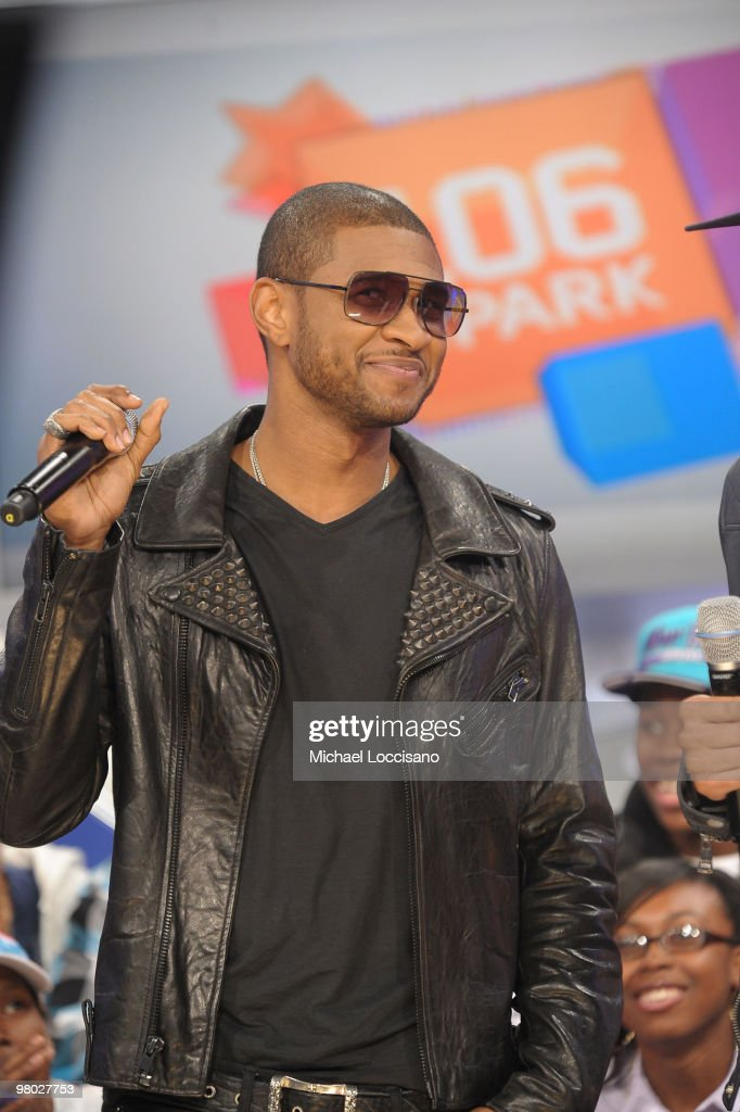 Singer Usher visits BET's '106 & Park' at BET Studios on March 24, 2010 in New York City.