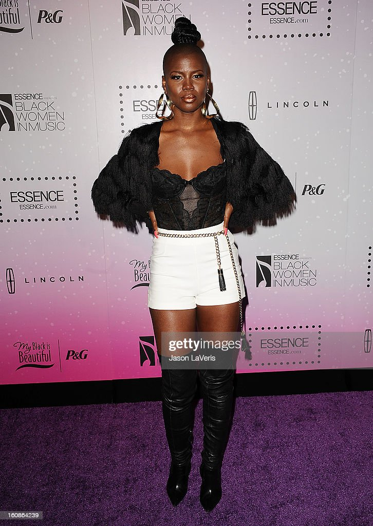 Singer V. Bozeman attends the 4th annual ESSENCE Black Women In Music event at Greystone Manor Supperclub on February 6, 2013 in West Hollywood, California.