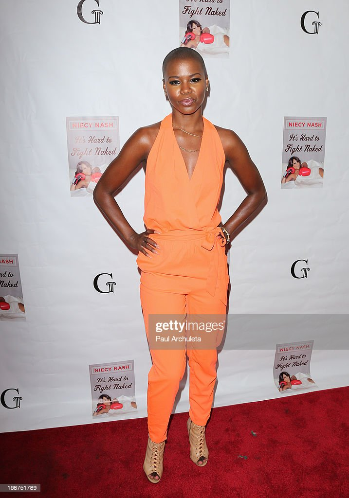 Singer V. Bozeman attends the release party for Niecy Nash new book 'It's Hard To Fight Naked' at the Luxe Rodeo Drive Hotel on May 14, 2013 in Beverly Hills, California.