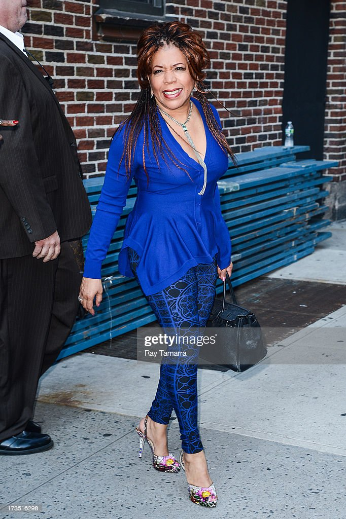 Singer <a gi-track='captionPersonalityLinkClicked' href=/galleries/search?phrase=Valerie+Simpson+-+Recording+Artist&family=editorial&specificpeople=235722 ng-click='$event.stopPropagation()'>Valerie Simpson</a> leaves the 'Late Show With David Letterman' taping at the Ed Sullivan Theater on July 15, 2013 in New York City.