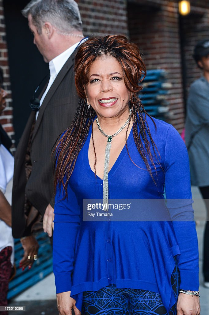 Singer Valerie Simpson leaves the 'Late Show With David Letterman' taping at the Ed Sullivan Theater on July 15, 2013 in New York City.