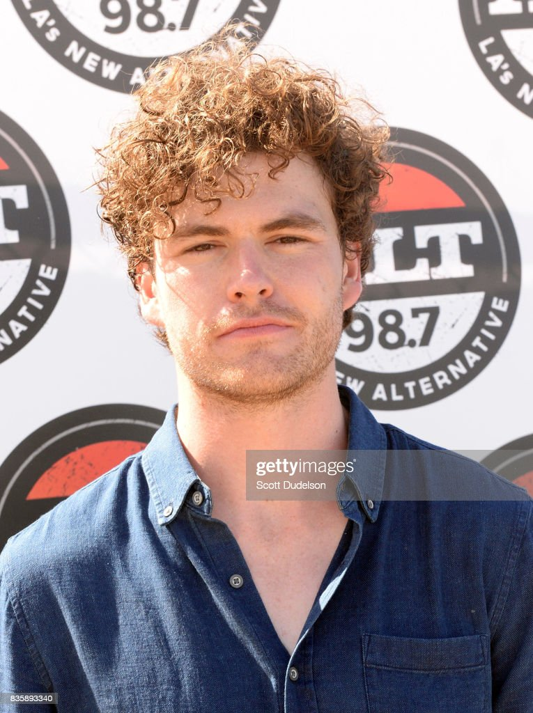 Singer Vance Joy attends the Alt 98.7 Summer Camp concert at Queen Mary Events Park on August 19, 2017 in Long Beach, California.