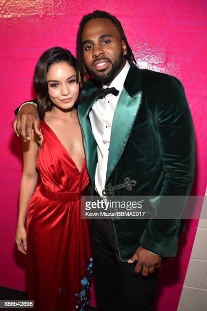Singer Vanessa Hudgens and recording artist Jason Derulo attend the 2017 Billboard Music Awards at TMobile Arena on May 21 2017 in Las Vegas Nevada