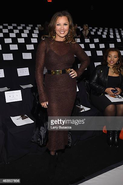 Singer Vanessa L Williams attends Carmen Marc Valvo fashion show during MercedesBenz Fashion Week Fall 2015 at The Theatre at Lincoln Center on...