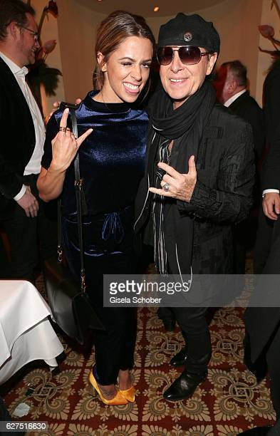 Singer Vanessa Mai and Klaus Meine Scorpions during the Ein Herz Fuer Kinder after show party at Borchardt Restaurant on December 3 2016 in Berlin...