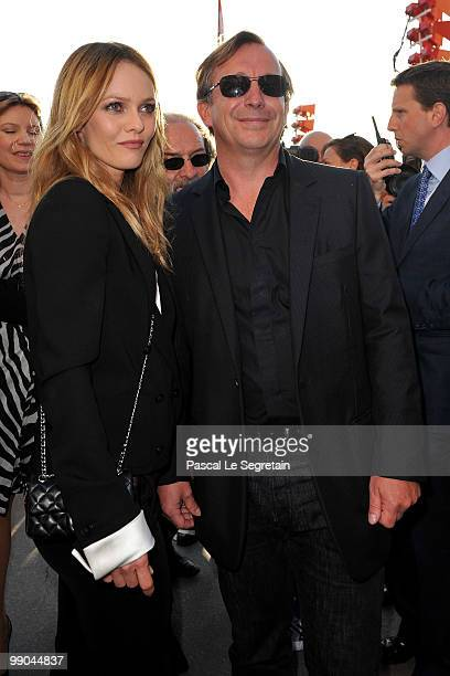 Singer Vanessa Paradis and Bruno Pavlovsky attend the Chanel Cruise Collection Presentation on May 11 2010 in SaintTropez France