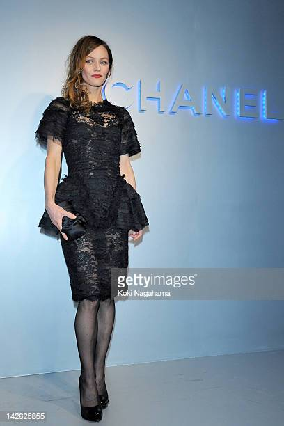 Singer Vanessa Paradis attends the Chanel 2012 Spring/Summer Haute Couture Collection Show at Shinjuku Gyoen Park on March 22 2012 in Tokyo Japan