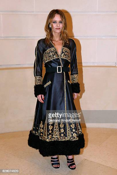 Singer Vanessa Paradis attends the 'Chanel Collection des Metiers d'Art 2016/17 Paris Cosmopolite' Photocall at Hotel Ritz on December 6 2016 in...