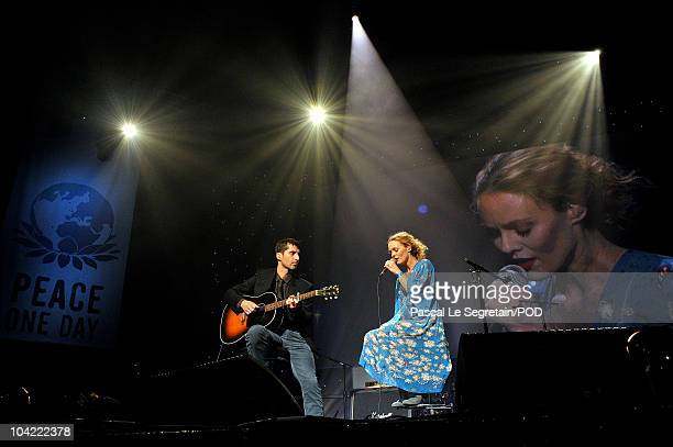 Singer Vanessa Paradis performs on stage during the Peace One Day Celebration 2010 at Le Zenith on September 17 2010 in Paris France*