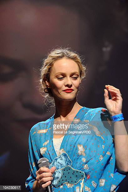 Singer Vanessa Paradis performs on stage during the Peace One Day Celebration 2010 at Le Zenith on September 17 2010 in Paris France