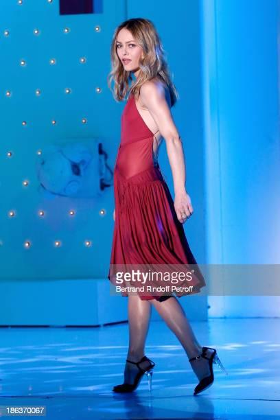 Singer Vanessa Paradis performs on 'Vivement Dimanche' TV show at Pavillon Gabriel on October 30 2013 in Paris France
