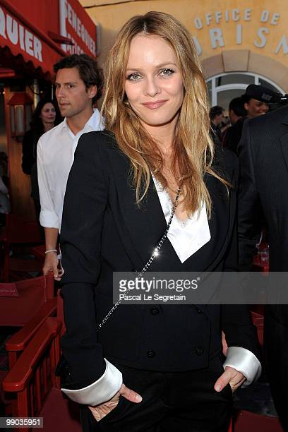 Singer Vanessa Paradis poses during the Chanel Cruise Collection Presentation on May 11 2010 in SaintTropez France