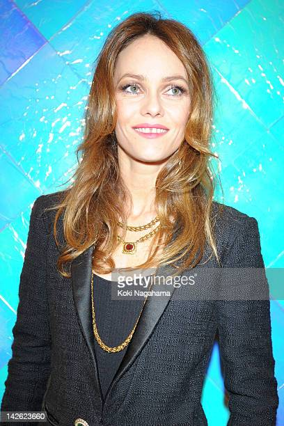 Singer Vanessa Paradis poses for photographs during the Tokyo Ephemeral Boutique Opening Reception at BATSU Art Gallery on March 23 2012 in Tokyo...