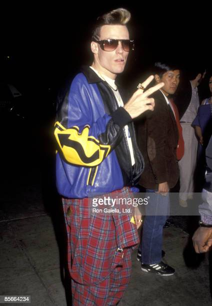Singer Vanilla Ice on December 7 1990 dining at Spago in West Hollywood California
